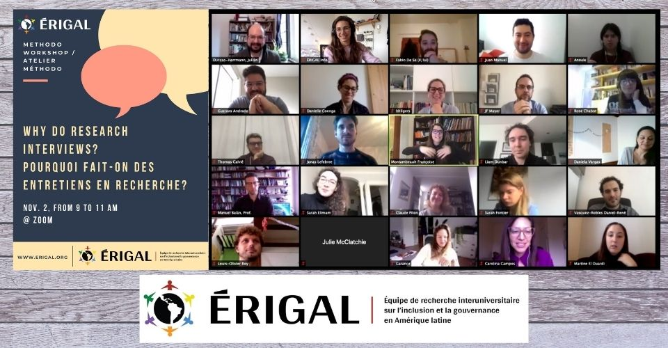 Why do research interviews? : Another successful ERIGAL method workshop!
