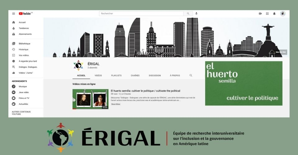 ERIGAL launches a series of video capsules entitled Diálogos. Dialogue