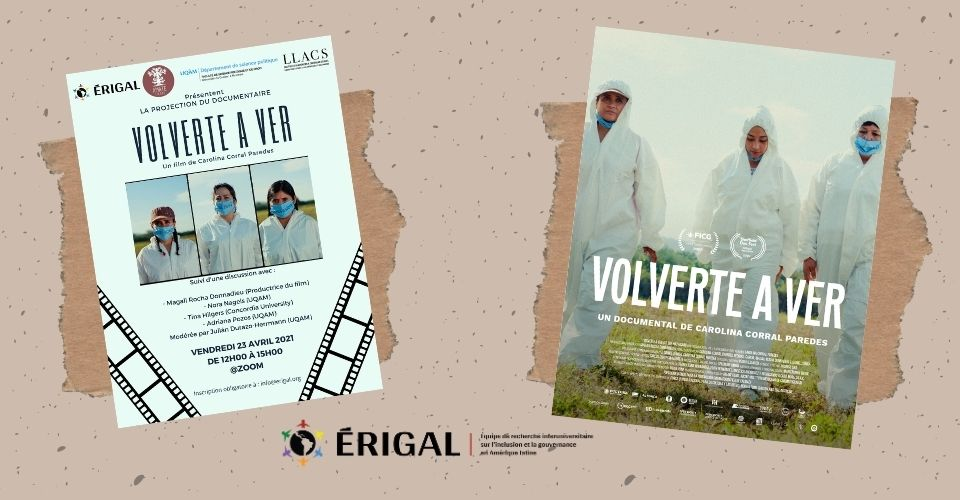 FEEDBACK ON THE ERIGAL FILM SCREENING 'VOLVERTE A VER' (TO SEE YOU AGAIN)